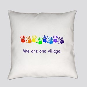 We Are One Village Rainbow Gifts Everyday Pillow
