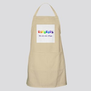 We Are One Village Rainbow Gifts Apron