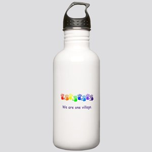 We Are One Village Rainbow Gifts Water Bottle