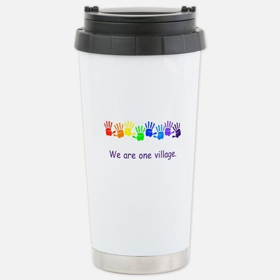 We Are One Village Rainbow Gifts Travel Mug