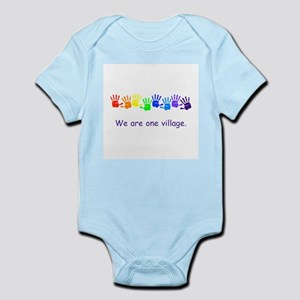 We Are One Village Rainbow Gifts Body Suit