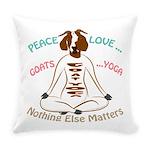 PEACE LOVE GOATS YOGA | GetYerGoat™ Everyday Pillo