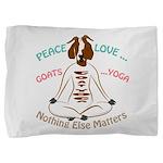 PEACE LOVE GOATS YOGA | GetYerGoat™ Pillow Sham