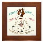 PEACE LOVE GOATS YOGA | GetYerGoat™ Framed Tile
