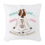 PEACE LOVE GOATS YOGA | GetYerGoat™ Woven Throw Pi