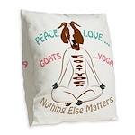 PEACE LOVE GOATS YOGA | GetYerGoat™ Burlap Throw P