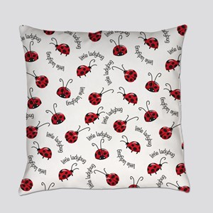 Little Red Ladybugs Everyday Pillow