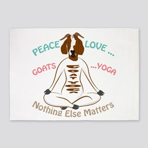 PEACE LOVE GOATS YOGA | GetYerGoat™ 5'x7'Area Rug