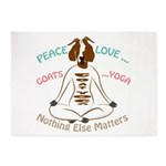 PEACE LOVE GOATS YOGA | GetYerGoat™ 5'x7'Area Rug