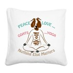 PEACE LOVE GOATS YOGA | GetYerGoat™ Square Canvas