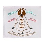 PEACE LOVE GOATS YOGA | GetYerGoat™ Throw Blanket