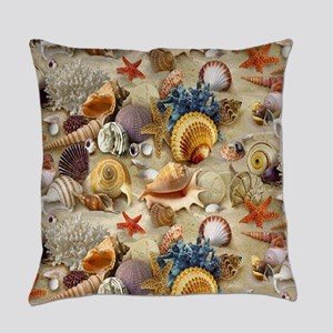 Seashells And Starfish Everyday Pillow