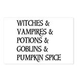Halloween Pumpkin Spice Postcards (Package of 8)
