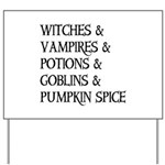 Halloween Pumpkin Spice Yard Sign