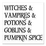 Halloween Pumpkin Spice Square Car Magnet 3
