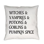 Halloween Pumpkin Spice Everyday Pillow