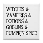 Halloween Pumpkin Spice Tile Coaster