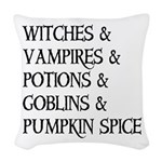 Halloween Pumpkin Spice Woven Throw Pillow