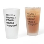 Halloween Pumpkin Spice Drinking Glass