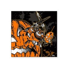 Halloween Pumpkin Spider Ar Square Sticker 3