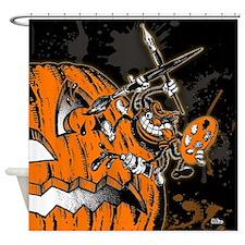 Halloween Pumpkin Spider Artist Shower Curtain