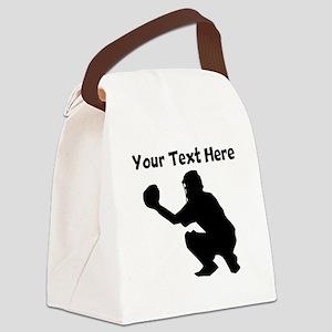 Baseball Catcher Canvas Lunch Bag