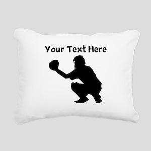 Baseball Catcher Rectangular Canvas Pillow
