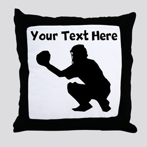 Baseball Catcher Throw Pillow