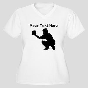 Baseball Catcher Plus Size T-Shirt