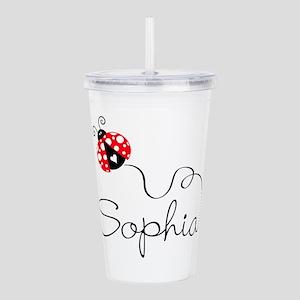 Ladybug Sophia Acrylic Double-Wall Tumbler