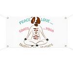 PEACE LOVE GOATS YOGA | GetYerGoat™ Banner