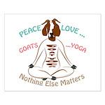 PEACE LOVE GOATS YOGA | GetYerGoat™ Posters