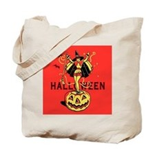 Halloween Witch Girl (vintage) Tote Bag