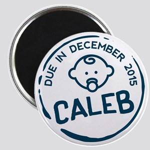 Baby Boy Due Stamp Caleb Magnet