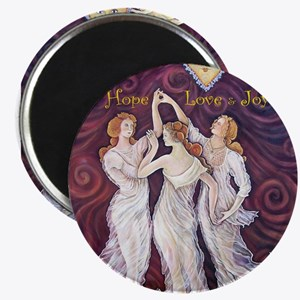 3 Graces with Smiling faces Magnets
