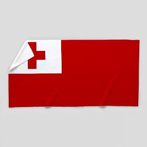 Flag of Tonga Beach Towel