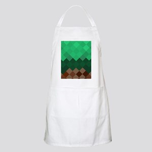 Green Pixel Horizon Apron