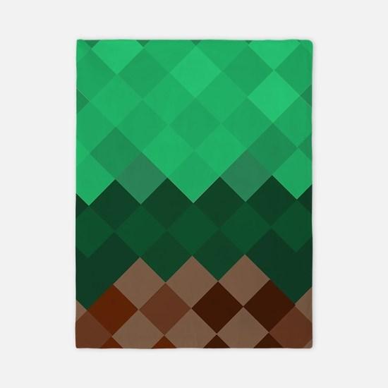 Green Pixel Horizon Twin Duvet