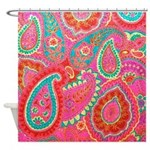 Pink Paisley Shower Curtain