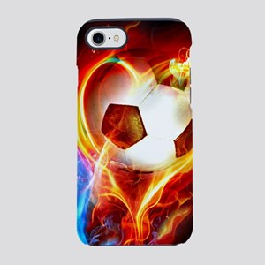 Flaming Football Ball iPhone 8/7 Tough Case