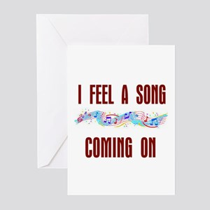 SONG COMING ON Greeting Cards (Pk of 20)