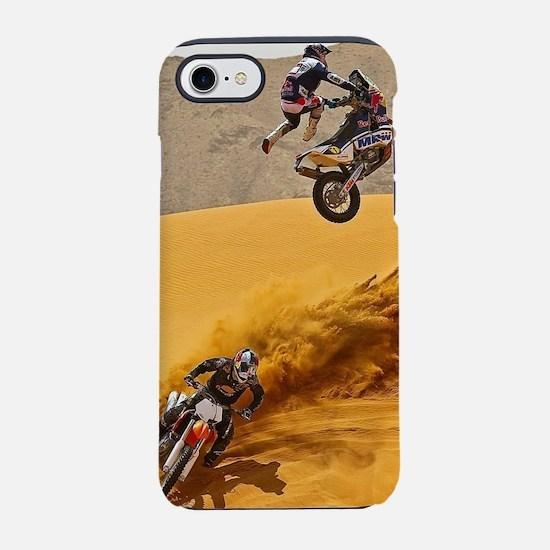 Motocross Riders Riding Sand iPhone 8/7 Tough Case