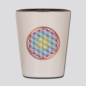 the flower of life Shot Glass