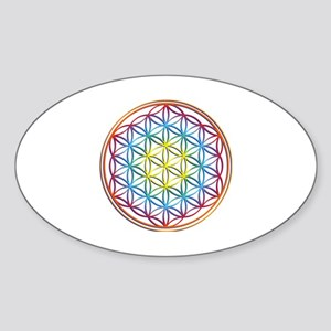 the flower of life Sticker (Oval)