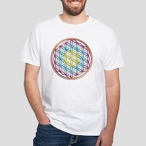 the flower of life White T-Shirt