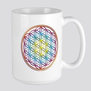the flower of life Large Mug