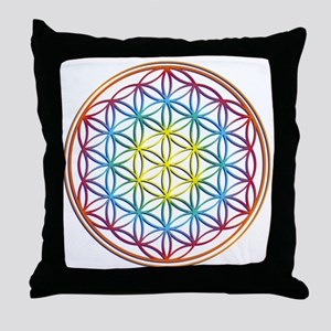 the flower of life Throw Pillow