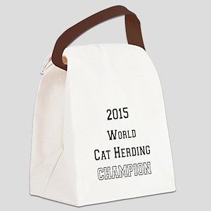 2015 WORLD CAT HERDING CHAMPION Canvas Lunch Bag