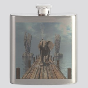 Elephant on a jetty Flask