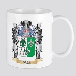 Sage Coat of Arms - Family Crest Mugs